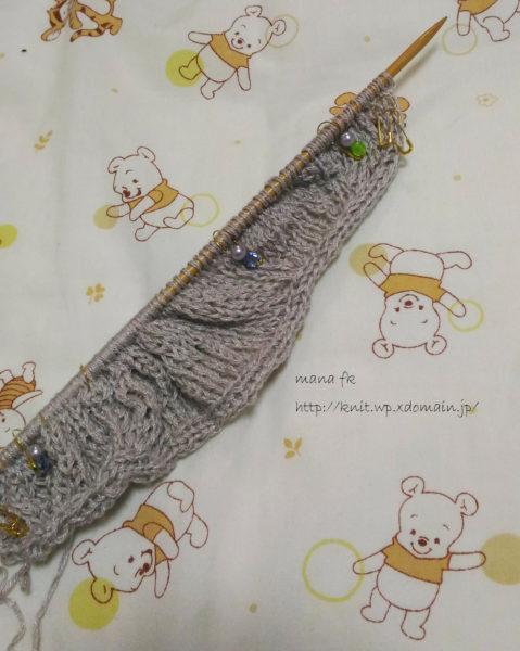 一度も糸を切らないプルオーバーの編み始めと自作の目数リング